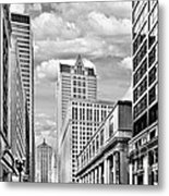 Chicago Lasalle Street Metal Print