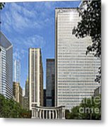 Chicago Millennium Monument And Fountain Metal Print by Christine Till