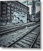Chicago Rail Station Metal Print by Donald Schwartz