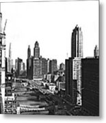 Chicago River In Chicago Metal Print