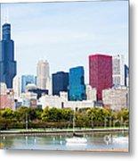 Chicago Skyline Lakefront Metal Print by Paul Velgos