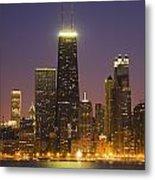 Chicago Skyscrapers With John Hancock Metal Print