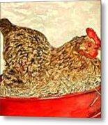 Chicken Hen Painting Art Print Metal Print