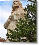 Chief Blackhawk Statue Metal Print by Bruce Bley