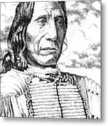 Chief-red-cloud Metal Print