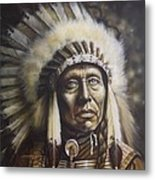 Chief Metal Print by Tim  Scoggins