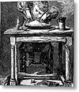 Child Eating, 1875 Metal Print