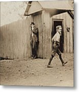 Child Goes To Work At Mill In Alabama - 1910 Metal Print
