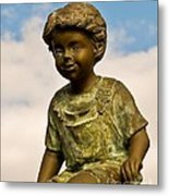 Child In The Clouds Metal Print