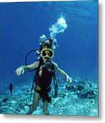 Child Scuba Diver Metal Print