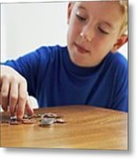 Child With Loose Change Metal Print by Ian Boddy