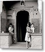 Childhood In Jaipur  Metal Print