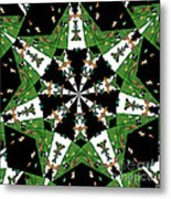 Children Animals Kaleidoscope Metal Print
