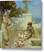 Children By The Mediterranean  Metal Print