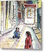 Children In Nicosia Metal Print