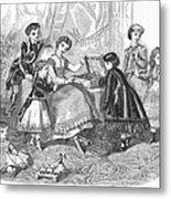 Childrens Fashion, 1868 Metal Print