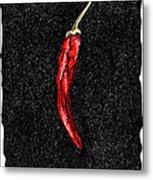 Chilli Pepper, Woodcut Metal Print by Gary Hincks