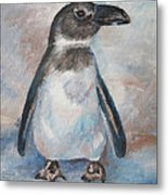 Chilly Little Penguin Metal Print
