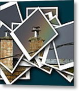 Chimney On A Roof  Metal Print