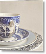 China Cup And Plates Metal Print by Lyn Randle