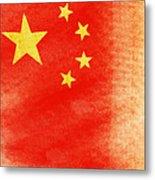 China Flag Metal Print