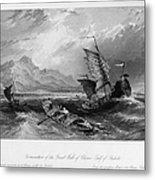 China: Gulf Of Bohai, 1843 Metal Print