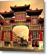 China Town Liverpool Metal Print