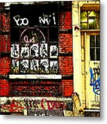 Chinatown Graffiti Metal Print