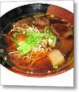 Chinese Beef Noodle Soup Metal Print