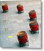 Chinese Drum Set Metal Print