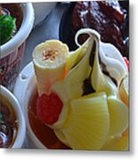 Chinese Food Miniatures 2 Metal Print
