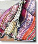 Choclos Sobre Aguayo Metal Print