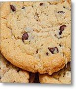 Chocolate Chip Cookies Pano Metal Print