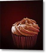 Chocolate Cupcake Isolated Metal Print by Jane Rix