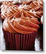 Chocolate Cupcakes Metal Print by Jane Rix
