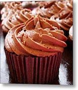 Chocolate Cupcakes Metal Print