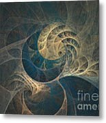 Chocolate Dream - Abstract Art Metal Print