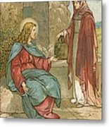 Christ And The Woman Of Samaria Metal Print by John Lawson