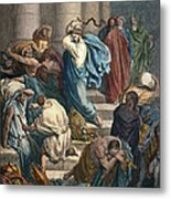 Christ At The Temple Metal Print