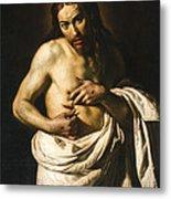 Christ Displaying His Wounds Metal Print
