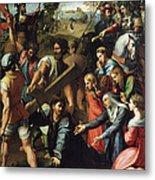 Christ Falls On The Way To Calvary Metal Print