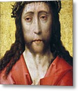 Christ In Crown Of Thorns Metal Print