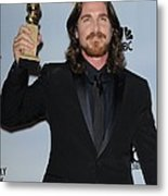 Christian Bale In The Press Room Metal Print