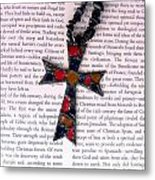 Christian  Cross Metal Print by Cynthia Amaral