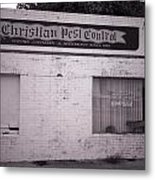 Christian Pest Control Metal Print