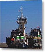 Christiana Oil Tanker Sitting In Galveston Tx Metal Print