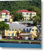 Christiansted Water Front Metal Print