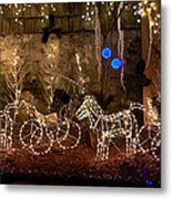 Christmas Carriages Metal Print by DigiArt Diaries by Vicky B Fuller
