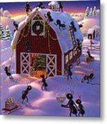 Christmas Decorator Ants Metal Print by Robin Moline