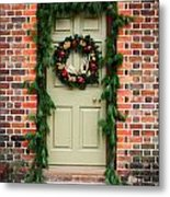 Christmas Door Metal Print